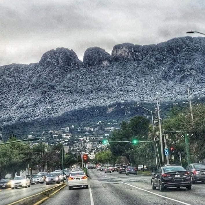 nevadas en Monterrey